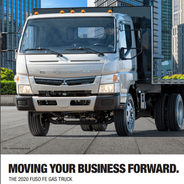 Moving your business forward with the 2020 Fuso FE gas truck.