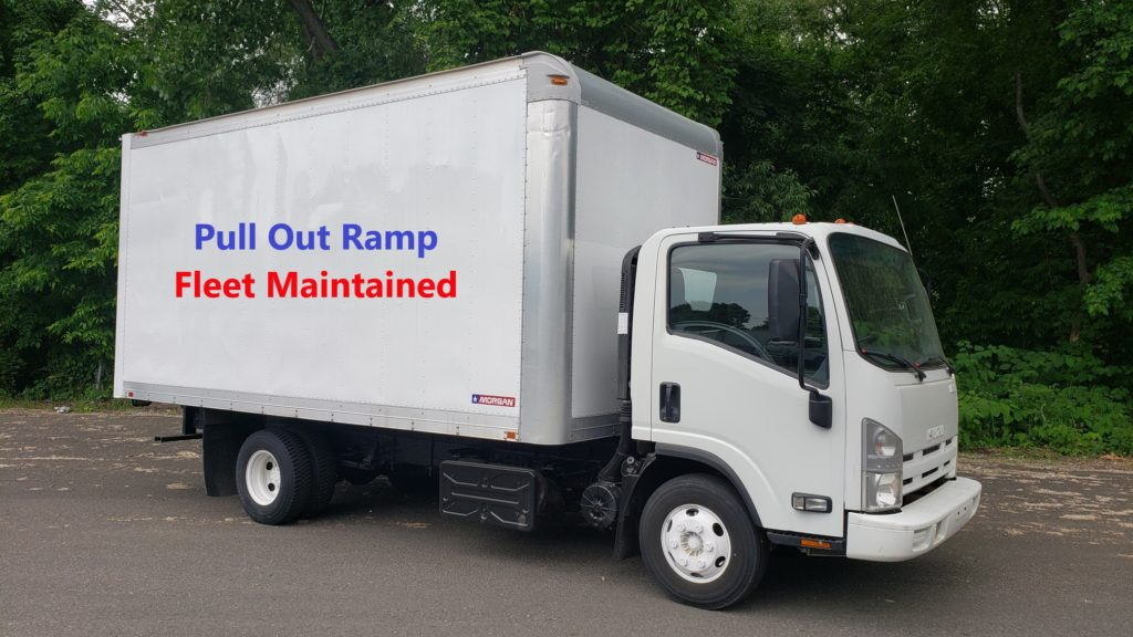 2013 Isuzu NPR-HD with a 16 Morgan van body. Pull out ramp and step up rear bumper. Selling Price - $21,125